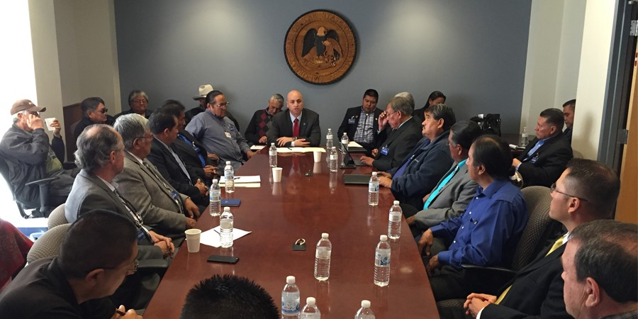 Attorney General Balderas & 12 New Mexico Tribal Governments Meet